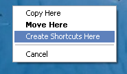 create shortcuts