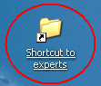shortcut to experts folder