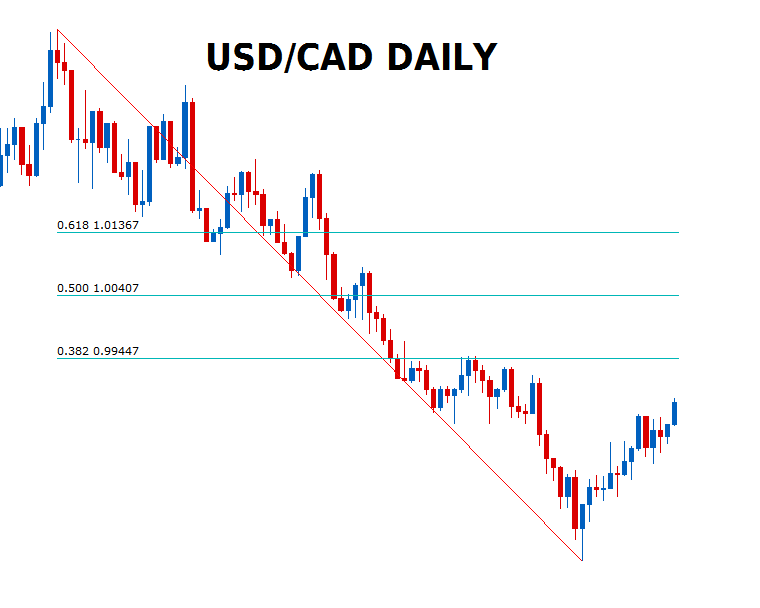 usd cad daily forex chart