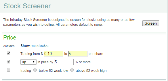 penny stock screener