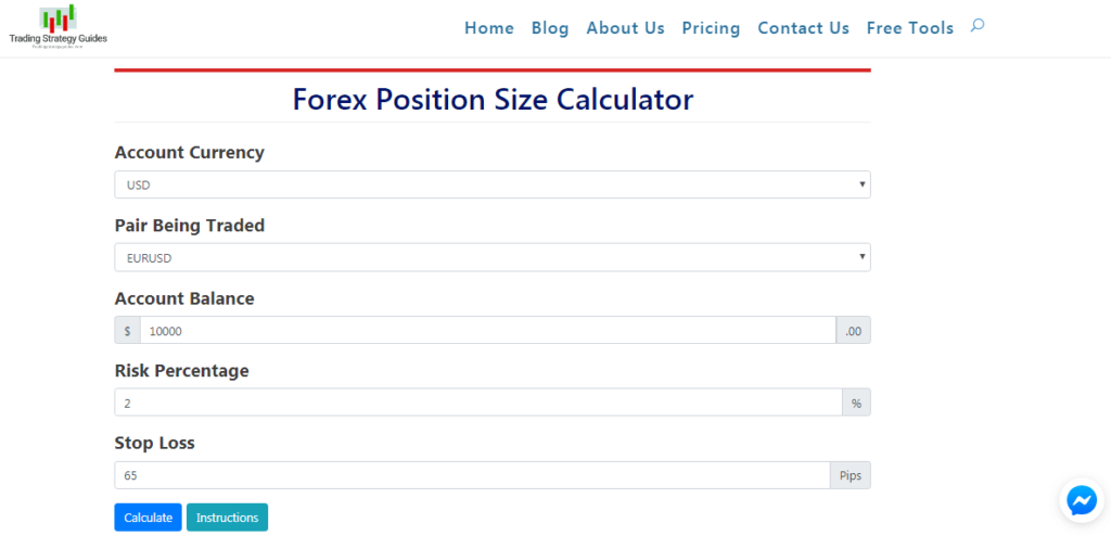 Forex Position Size Calculator